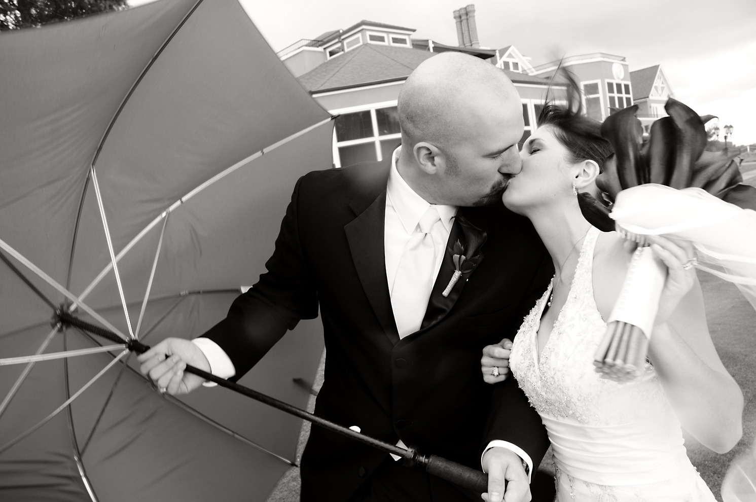 courtney & colby umbrella 1 b&w
